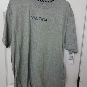 Nautica xl grey tshirt nwt